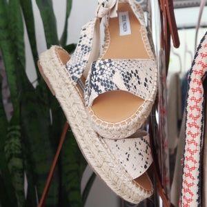 Steve Madden Snake Print Espadrille Sandals